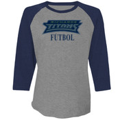 Titans - 6051 Next Level Unisex Triblend 3/4-Sleeve Raglan